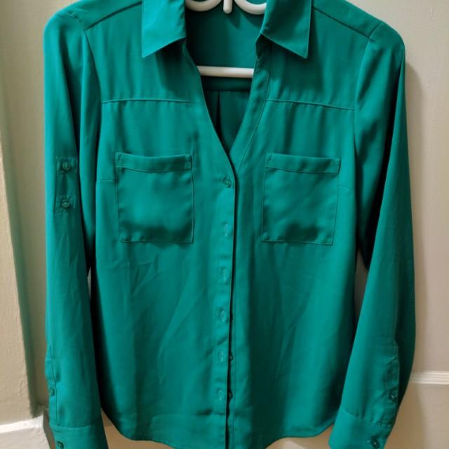 Green dress shirt Express