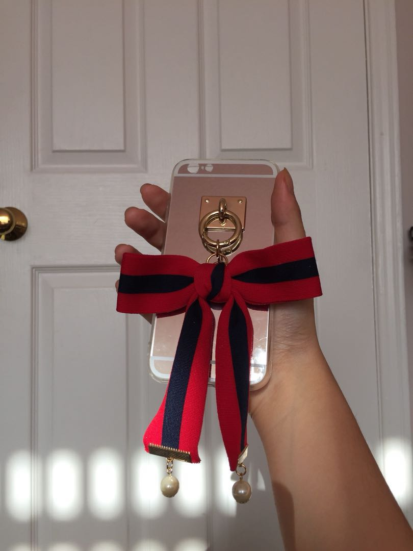 Handmade mirror ribbon iphone case