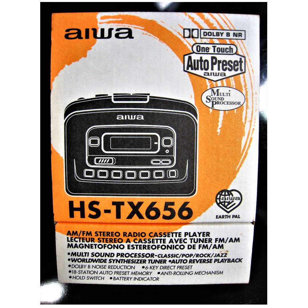 HARD TO FIND - VINTAGE COLLECTABLES '80s BRAND NEW OLD STOCK AIWA  AUTO-REVERSE MULTI SOUND PROCESSOR WALKMAN WORLDWIDE SYNTHESIZER TUNER  (PROBABLY