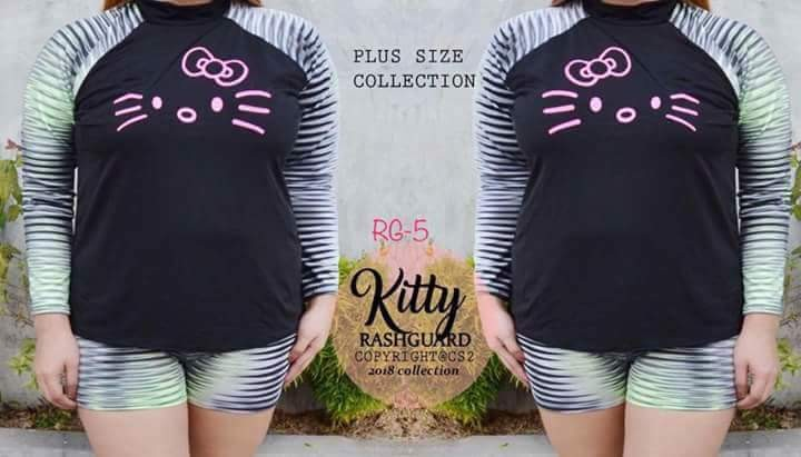 8797800b9 hello kitty rush guard plus size, Women's Fashion, Clothes on Carousell
