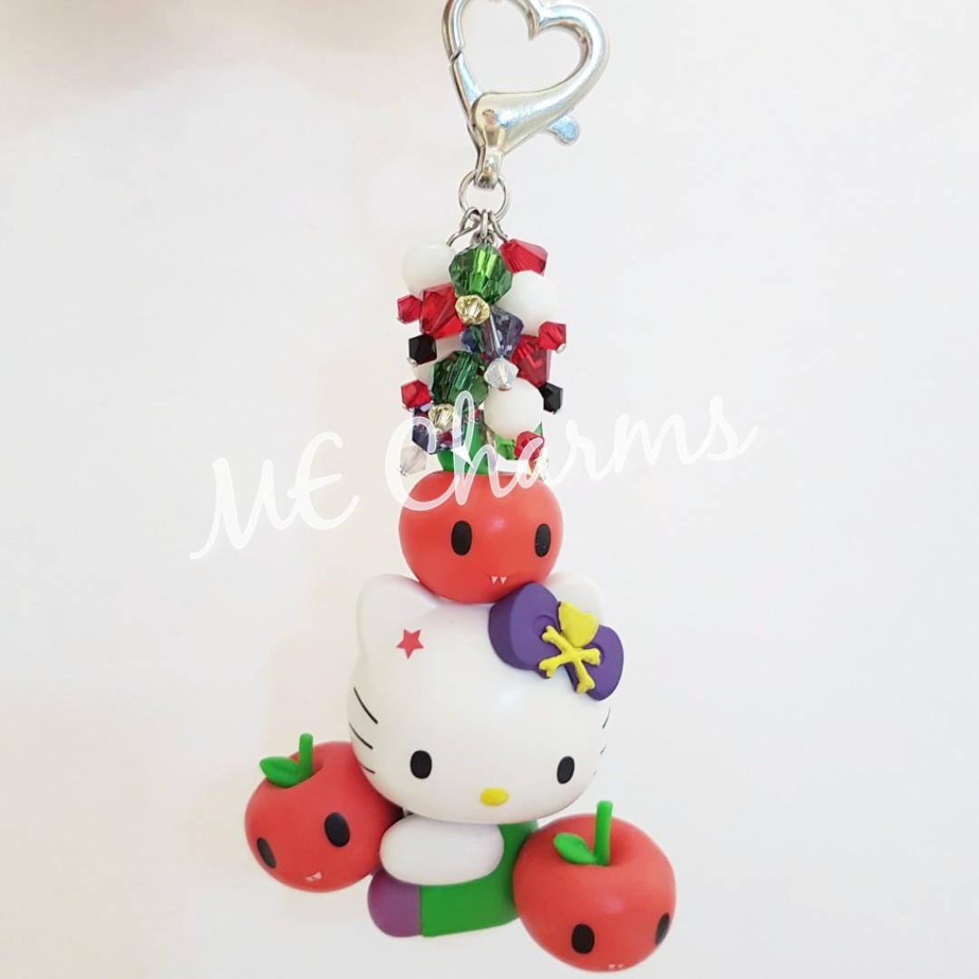 Hello Kitty Swarovski Crystals Bag Charms   Fobs 0e2adca14e050