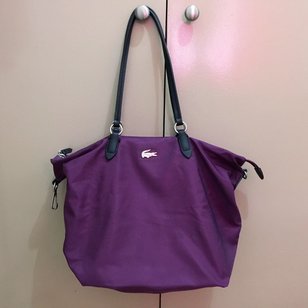 08fb5f3918 Lacoste Bilberry Nylon Bag on Carousell