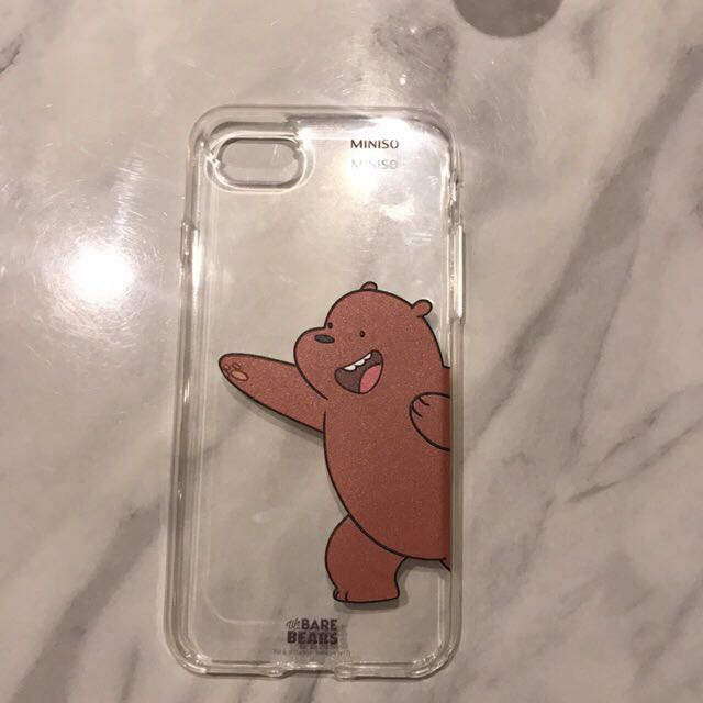 separation shoes 8942c 5b37a MINISO we bare bears iphone 7 case, Mobile Phones & Tablets, Mobile ...