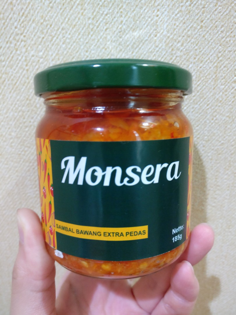 Monsera Sambal Bawang Extra Pedas Food Drinks Instant On Cuk Travel Pack Carousell