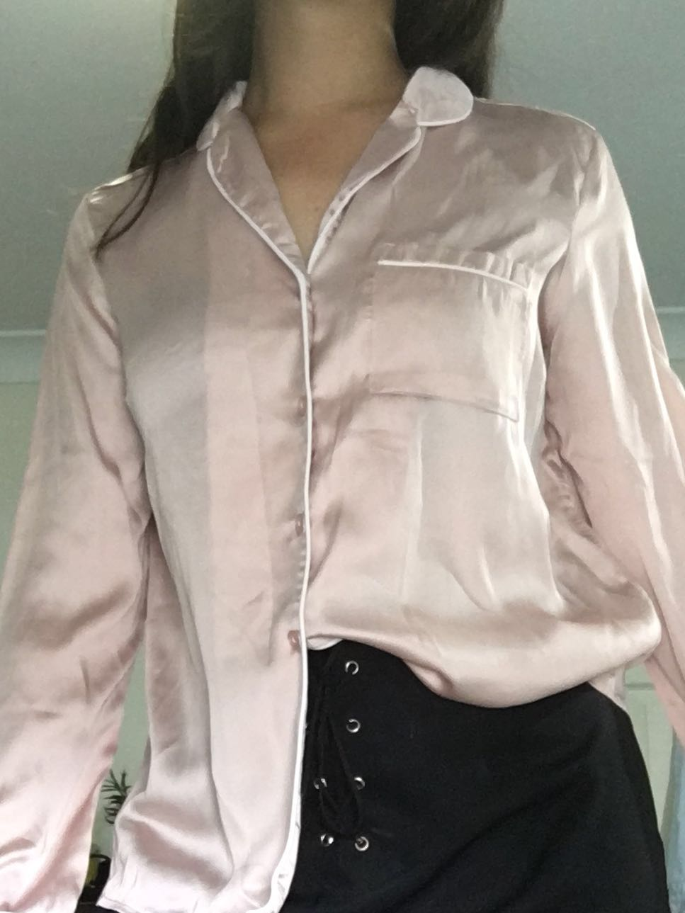 [NEW] Size 10 | Ally Satin Button-Up