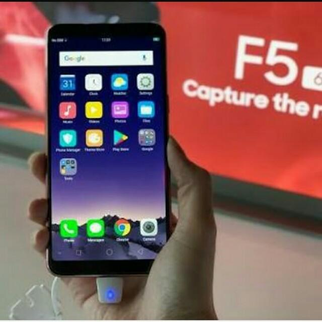 Oppo F5 Kini telah Hadir dengan Ram 6Gb loh Pas banget Buat Kamu yang gak krpingin hp mu lemot bisa cicil juga proses hanya 3Menit, Mobile Phones & Tablets, ...