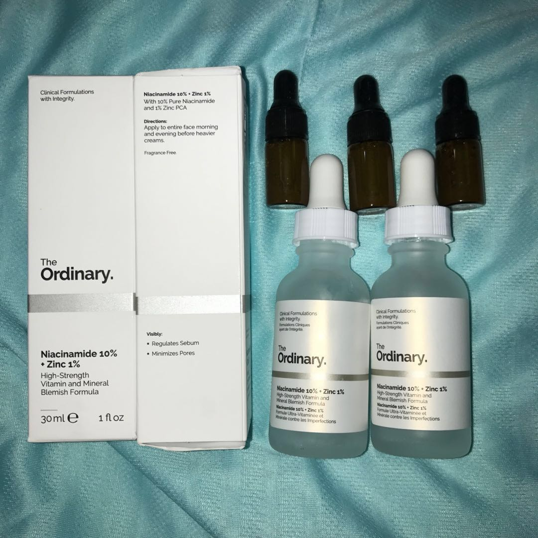 The Ordinary Niacinamide 10% + Zinc 1% Trial Kit