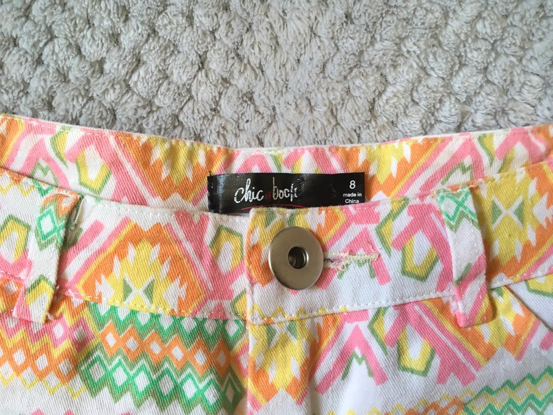 Tribal pattern shorts