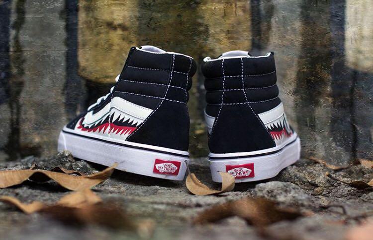 "d3f51ee20158f Vans X Bape Sharktooth Custom High Cut ""Black"""