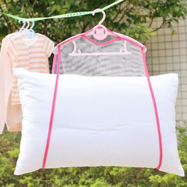 windproof frame fixed pillow Multifunctional pillow toys drying rack drying racks hanging racks Net Home Container