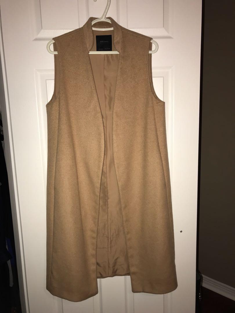 Zara camel vest