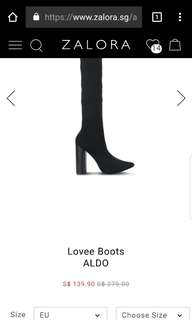 Brand New Aldo Lovee Thigh High Boots at low price!