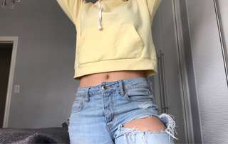 Yellow Crop Sweater