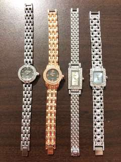 Small Dial Face Metal Chain Links Strap Watches
