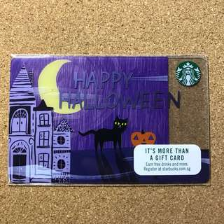 Singapore Starbucks Halloween Card 2017