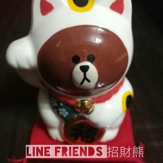 "Line Friends 招財""熊大""(日本限定)- Line Friends Beckoning Cat Brown (Japan Edition)"