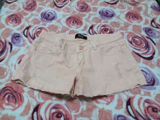 Light Tangerine Maong Shorts