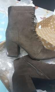 Brand New in Box Call-it-spring suede ankle boots in an awesome shade of dark chocolate