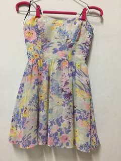 BNWOT T by Bettina Liano Floral Bustier Dress