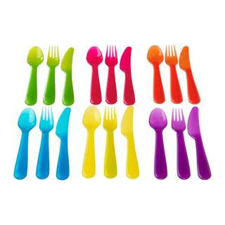 18 piece cutlery for kids/toddlers