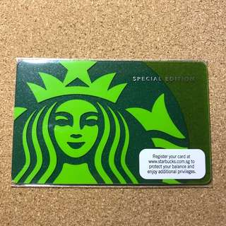 Singapore Starbucks 40th Anniversary Green Siren Card 2010
