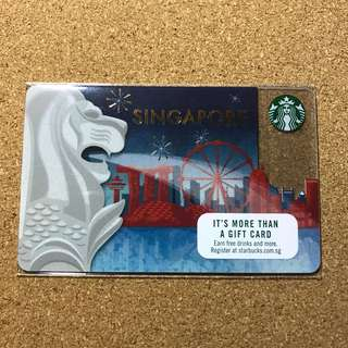 Singapore Starbucks Merlion Card