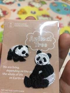 動物親子造型刺繡燙印貼紙