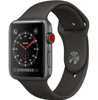 收全新apple watch 3 lte 42mm銀色或黑色