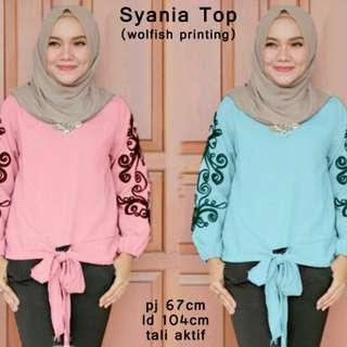 54709 syania top/baju tunik murah/atasan muslim wanita murah