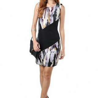 Riana Contrast Dress in Grey From MGP Label