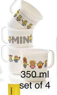 Tupperware minion mugs set of 4 (350 ml)