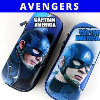3D Pencil Case Hard Case Large Capacity - Captain America