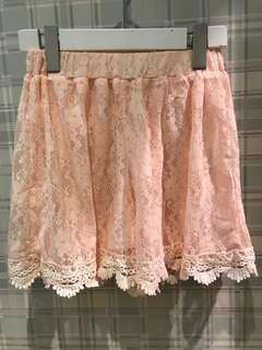 🚚 日本購入 蕾絲 粉紅 打底褲 短褲
