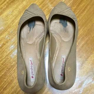 Grendha Brown Wedge Shoes (w/ flaws)