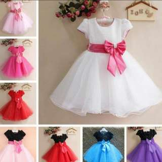 Instock Shimmering Butterfly Bow Girls Dress 👗