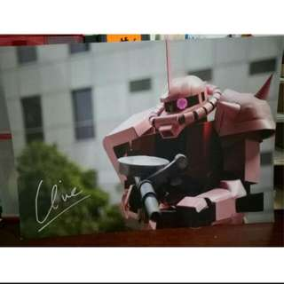 Gundam cosplayer poster