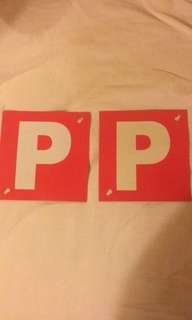 For Free P car sign