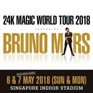 Bruno Mars Singapore Cat 1 Seating
