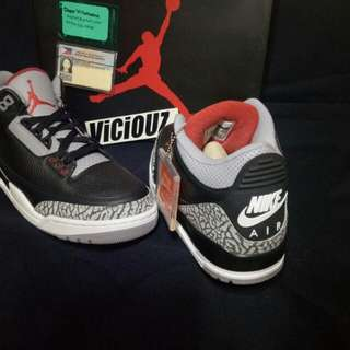 jordan black cement size 9.5 and 11.5