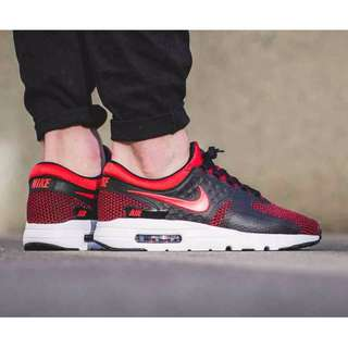 Nike Air Max Zero Essential 876070-600 Red Men's Shoes SRP 6,795
