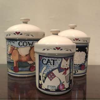 Ceramic Canisters Set
