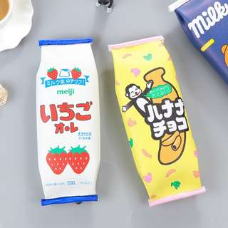 KOREAN ULZZANG MEIJI SNACK PENCIL CASE