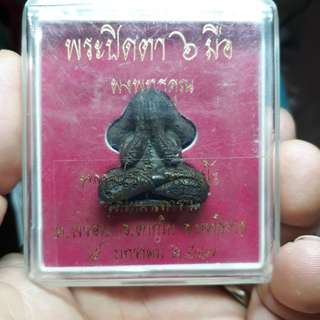 Dont Miss Superb Condition LP Dam(Rare Pim)mostly u see is small pim😂😂😂 ~ Wat Mai Naparam - Excellent Phra Pidta 6 Hands With Yants Pim Yai Nur Wahn Herb BE 2547