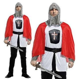 中世紀聖佐治 十字軍戰士 角色扮演 萬聖節服飾 扮野 Cosplay 聖誕節 玩新郎 化粧舞會