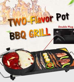 Two-Flavor Pot Steamboat & BBQ Grill