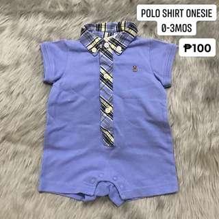 Polo shirt onesie