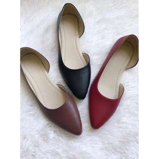 Flats shoes pointed curved cut - Item code: c1003
