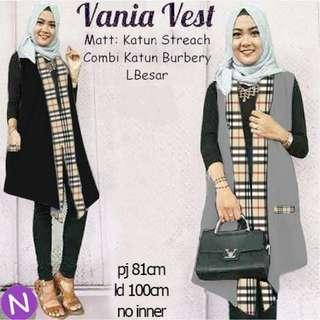 49489 vania vest/cardigan muslim/baju muslim wanita/vest muslim murah