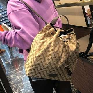 GUCCI - Drawstring Canvas Backpack