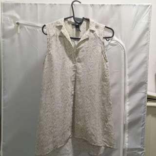 H&M Sheer Vest Cardigan